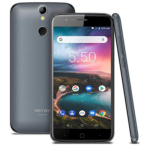 Vernee Thor Móviles Libres, Android 7.0, Pantalla HD de 5 Pulgadas, 2800mAh, 3GB RAM+16GB ROM, Desbloqueo de Huellas,...