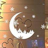 ☺HWTOP Fensterbilder Weihnachten Schnee Weihnachten Schnee Dekoration Schlafzimmer Wandsticker Tapete
