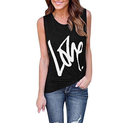 Kobay Women T-Shirt Tops, Ladies' Fashion Soild Print Blouse Sexy Vest Fashion Sleeveless Tank Summer