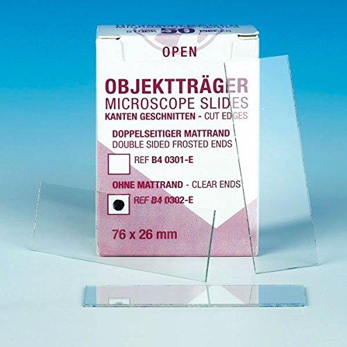 Mediware B4 0302-E Eco-Objektträger, ohne Mattrand (50-er Pack)