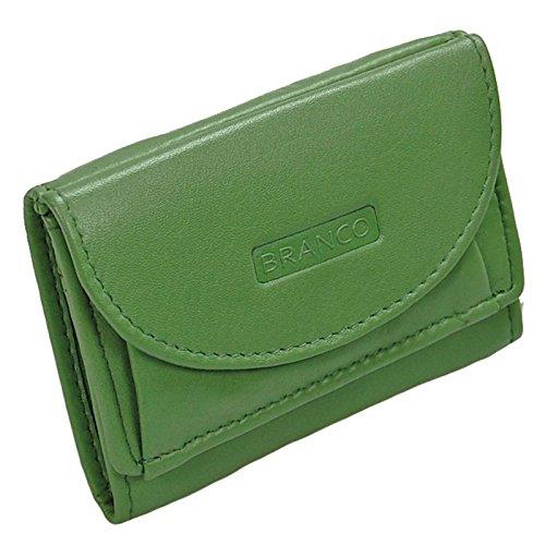 ee84919453b7f Branco Mini Geldbörse Leder Portemonnaie Geldbeutel Partybörse Minibörse  GoBago (Grün)