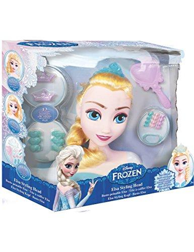 IMC Toys - Disney - La Reine des Neiges - Tête à Coiffer Elsa - 13 accessoires - Multicolore - 16149
