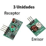 3X Módulo Emisor y Receptor RF 433MHz Inalambrico control remoto receiver Arduino