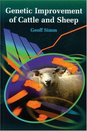 Genetic Improvement of Cattle and Sheep (Cabi Publishing) (2002-01-07)