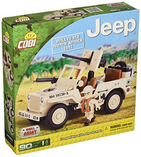 Cobi- 90 pcs jeep /24093/ willys mb north africa 1943 costruzioni piccole gioco 947, multicolore, 5902251240936