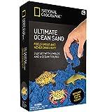 National Geographic Giocare Ultimate Ocean Sand - 6 stampi, 6 cifre, 900 grammi di sabbia con vassoio