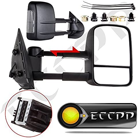ECCPP�® Tow Towing Mirrors Manual Smoke Side Turn Signal View