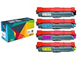 4 Cartucce toner Do it Wiser ® TN-241 TN-245 in sostituzione di Brother HL 3140 CW | HL 3150 CDN | HL 3150 3170 CDW | DCP 9015 9020 CDW | MFC 9130 9140 CDN | MFC 9130 CW | MFC 9330 9340 CDW