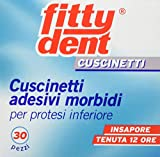 Fittydent Cuscinetti Adesivi Morbidi per Protesi Inferiore - 30 Pezzi