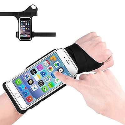 Bracelet Sport Running Sweatproof, Konesky Bande Prébobin écran Tactile avec Taille Réglable pour le Dernier Téléphone Intelligent - Noir par Konesky