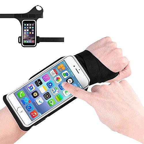 Sweatproof Running Sport Armband, Konesky Berührungsempfindlicher Bildschirm Unterarmband mit Einstellbarer Größe für Neues Smartphone - Schwarz Cradle-mp3-player