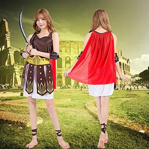 Kostüm Gladiator Womens - GUAN Halloween Ball Kostüme Gladiator Roman Warrior Stage Performance Samurai Kostüm Roman Female Warrior