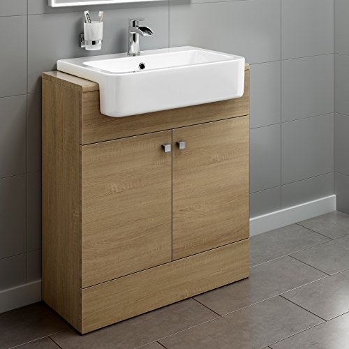 660mm Oak Basin Vanity Cabinet Bathroom Storage Furniture ...