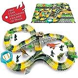 SYOSIN Flessibile PistaMacchinineElettriche Cars Dinosauro Giocattolo192 Pezzi DinoJurassicWorld per Bambini Regalo Ragazza Ragazzo 3 4 5 6 Anni