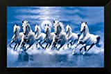 #9: PAF Horse Painting exclusive Framed Wall Art Paintings Framed size (12 inch x 18 inch, (Wood 35 cm x 2 cm x 50 cm, Special Effect Textured)