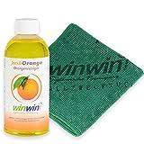winwin clean Systemische Reinigung - Fresh ORANGE 500ML I INKL. UNIVERSALTUCH 32 x 32 cm