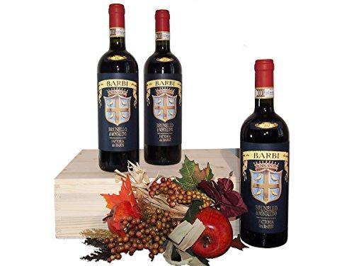 Cassetta Vino Importante Brunello di Montalcino della Fattoria dei Barbi - Regalo Indicato per Celebrare una Festa o una Ricorrenza - cod 34a