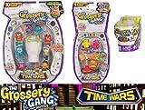 Grossery Gang Serie 5 - Time Wars - Lot de 3pcs Pack Figurines - Pack 10 + Pack 4 + 1pcs Blind Bag - Neuf