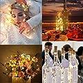 9x 20 LED Flaschen-Licht, deko hochzeit 9 X 2M X 20 LED Weinflaschenlichter, Flaschenlichter Lichterketten Party romantische Deko,Kork Flaschen Licht[ 2018 neue Version ] [ Warm-weiß ]