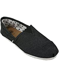 Di Baggio Mens Denim Summer Elasticated Slip On Espadrilles Plimsoll Shoes