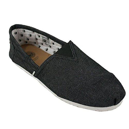Di Baggio Homme Rythmique Toile à Enfiler Espadrille Chaussures de Plage - Blanc uni, 12 UK