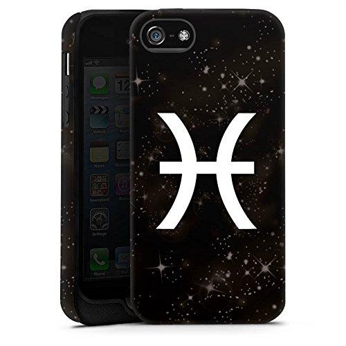Apple iPhone X Silikon Hülle Case Schutzhülle Fische Sternzeichen Astrologie Tough Case matt