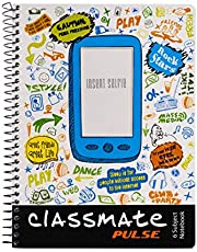 Classmate 2100133 Soft Cover 6 Subject Spiral Binding Selfie Notebook, Single Line, 300 Pages