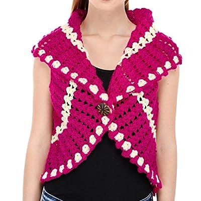 VR Designers Premium Quality Stylish & Fashionable Western Wear's Crochet Shrug (B0781P4Yz7, Pink) for Women/Girls