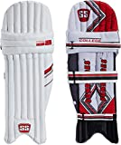 #3: SS College RH Batting Legguard, Men's (White/Red)
