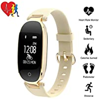 Preisvergleich für TechCode Bluetooth Activity Fitness Tracker Uhr, Bluetooth Wasserdichte Smart Uhr Mode Frauen Damen Pulsmesser...