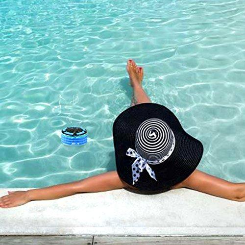 Smilin Portable Bluetooth Speaker Lautsprecher tragbarer Wasserdicht Wireless Funk Lautsprecher Wasserdicht mit Saugnapf Freisprecheinrichtung, integriertes Mikrofon für Freisprechfunktion mit FM-Radio, staub und stoßfest 100% Geld zurück-Garantie, CE/ROHS zertifiziert/FCC zertifiziert (Stil 1) - 6