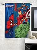 #9: Marvel Athom Trendz Spider man and Avengers Bath Towel 60x120 cms Combo of 2