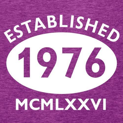 Gegründet 1976 Römische Ziffern - 41 Geburtstag - Damen T-Shirt - 14 Farben Beere