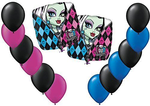 Monster High Mylar/Foil and Latex Balloons Bouquet (14 Pcs) by Anagram