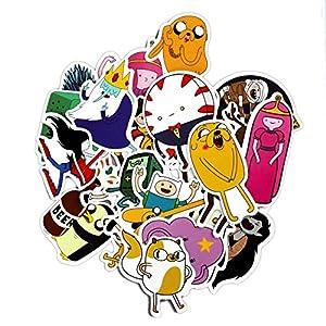 PANGUN 29Pcs Adventure Time Cartoon PVC Wasserdichter Aufkleber Für Wall Car Laptop-Fahrrad-Gepäck Sticker