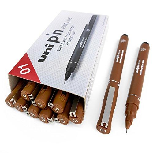 Uni Pin Fineliner, Stift–Sepia–1mm, 12Stück