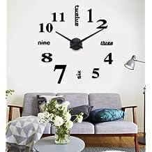 Wall Sticker Adesivi orologio di parete digitale Decorazione da Parete,DIY 3D Wall Clock per casa e ufficio.