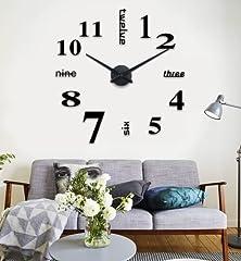 Idea Regalo - Wall Sticker Adesivi orologio di parete digitale Decorazione da Parete,DIY 3D Wall Clock per casa e ufficio.