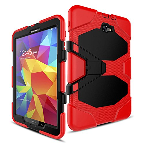 für Samsung Tab S2 9,7 Zoll (24,6 cm), strapazierfähig, stoßfest, mit Integriertem Displayschutz, für Samsung Galaxy Tab S2 9,7 T810 T813 T815 T819 Tablet rot ()
