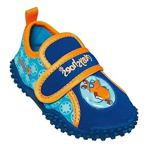 GALLUX - Kinder Aqua Schuhe Badeschuhe Jungen UV Schutz Blau/Orange