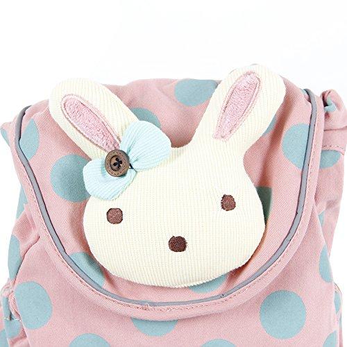 Niedlicher Häschen Babyrucksack Kindergartenrucksack Kindergartentasche Backpack Schultasche (rosa)