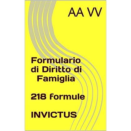 Formulario Di Diritto Di Famiglia (Formulari Giuridici)