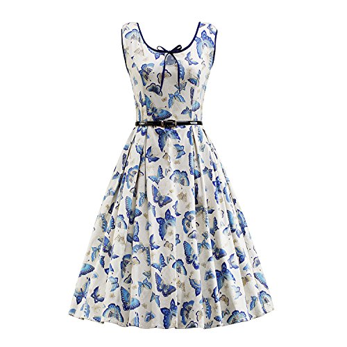 Kostüme 40er Jahre Tanz (iLover Frauen 40s 50s 60s Weinlese Hepburn)