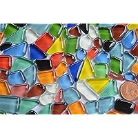 200g. Glas- Mosaiksteine unregelmäßig (Soft-Glas) bunt ca.120-150 St.