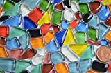 Glas- Mosaiksteine unregelmäßig. bunt 200g ca.140-160St.