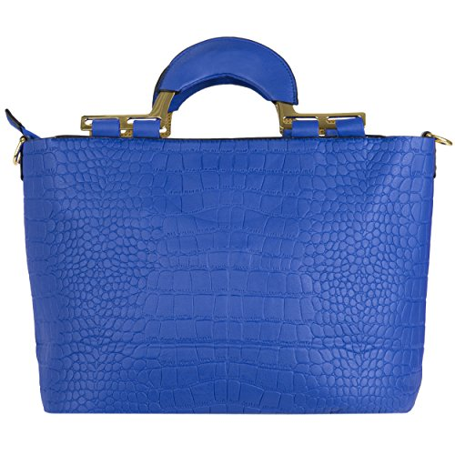 VanGoddy Samba Serie Borsa a spalla donna borse a mano ecopelle borsa messenger Shopping Bag (Blu)