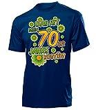 Das ist Mein 70er Jahre Kostüm Herren T-Shirt Mottoparty Schlagerparty 4523 Karneval Fasching Faschingskostüm Karnevalskostüm Erwachsene Navy XXL