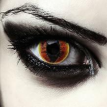 "Ardiente lentillas de colores para Sarons Eye costume ojo de gato / dragón lentes de tres meses sin dioprtías / corregir + gratis caso de lente ""Fire Dragon"""