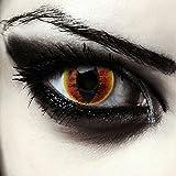 Ardente lenti a contatto colorate per Halloween costume occhio di gatto saurons eye, morbide, non corrette modello: 'Fire Dragon'