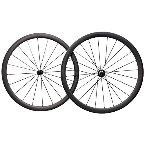 38mm全碳纤维T700 700C Aero Wheels Carbon Road Clincher Shimano 10 / 11速度